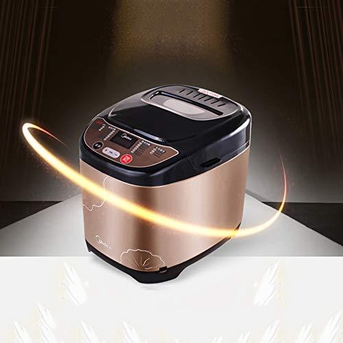 YLEI Multifunktional Brotbackautomat 500 Watt, Brotbackmaschine aus Edelstahl 18 Backprogramme, Brotbäcker für 500g-750g Brotgewicht, Platzsparend