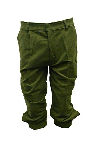 """Walker and Hawkes Herren Kniebundhosen aus Moleskin-Baumwolle - für die Jagd geeignet - Olivgrün - Größen 32"""" bis 38"""""""