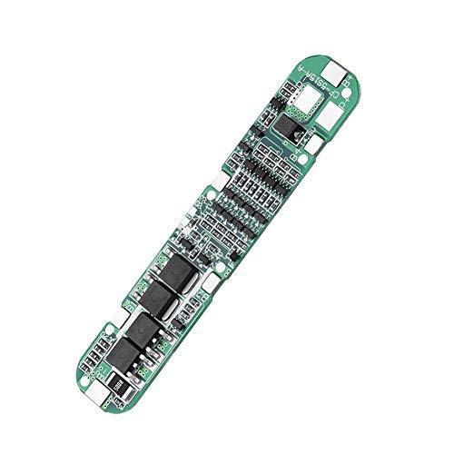 Módulo de protección de batería, 18.5V / 21V 15A 5S Batería de iones de litio Tarjeta de protección BMS para herramienta de energía eléctrica 18560 Soporte de baterías Protección contra sobrecarga, Pr