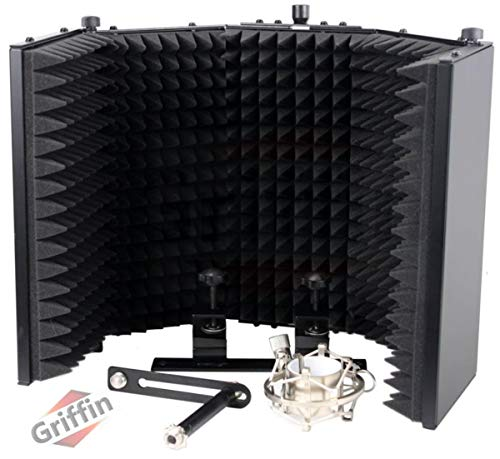 Studio Microphone Soundproofing Acoustic Foam Panel by Griffin | Soundproof Filter | Sound Diffusion...