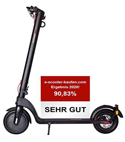 Scoot one E-Scooter E7 - mit Straßenzulassung/ABE, Herausnehmbarer Lithium-Ionen-Akku, 20 km/h, 8,5 Zoll Luftreifen INKL. eingefüllter Pannenschutzflüssigkeit, schwarz
