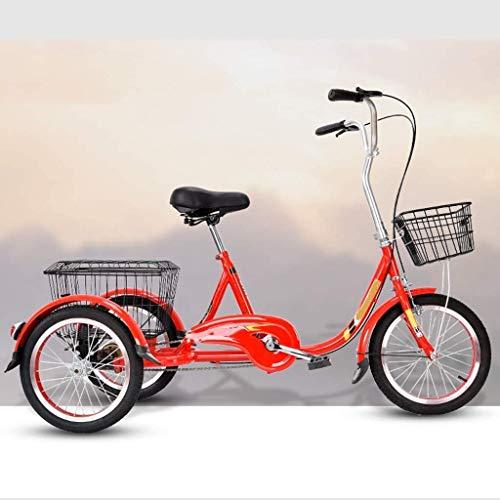 Triciclo Conveniente per Sport all'Aria Aperta, Triciclo per Anziani, Bicicletta Elettrica per Adulti, Triciclo per Acquisti E Tempo Libero(Color:Un)