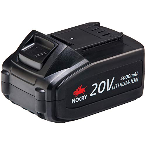 NoCry 20V Lithium Ion Battery - Rechargeable 4.0 Ah Battery for NoCry Cordless Power Tools Only