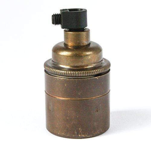 DOUILLE  pour ampoule (e27) à vis   laiton du vieux brasseur