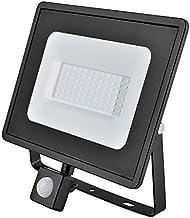 Eveready Lighting LED-spot, 10 W/20 W/30 W/50 W, PIR en PIR LED, niet zwart, 4000 K (Eveready zwart, 50 W LED PIR Floodlight)