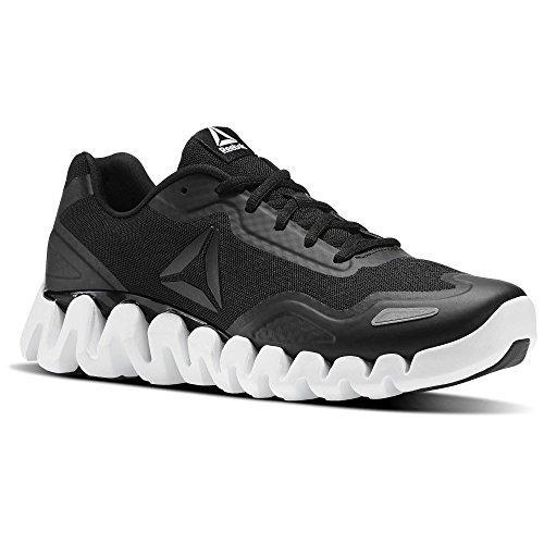 Reebok Mens Zigpulse Running Shoe (10.5 D(M) US, BLACK/WHITE)