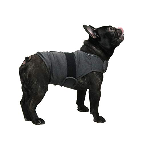 KittyStar Breathable Thunder Shirts for Dogs, Dog Anxiety Vest Jacket Warp,Puppy Calming Coat Anxiety Relief(Gray M)