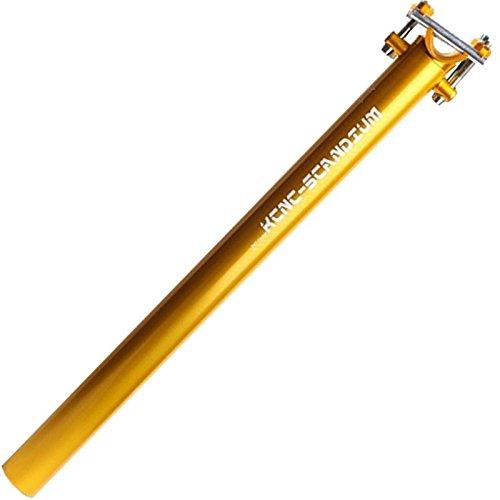 KCNC Tige de Selle Ti Pro Lite - Couleur Or- 400mm - 30.9mm