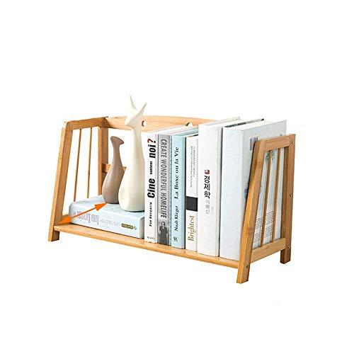 ZHANGYY Estantería de Escritorio vacía de bambú, Estante de Almacenamiento Simple, Mini estantería de Almacenamiento para Oficina de Estudiantes, Organizador de Escritorio, estantes para a