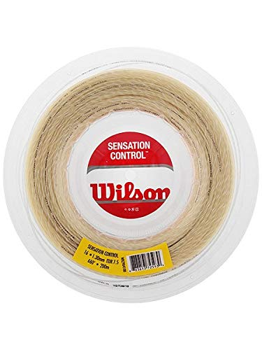 Wilson Sensation Control Cordaje de tenis, rollo 200 m, unisex, natural, 1.30 mm