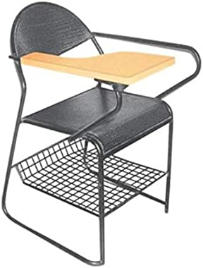 Guru-Chair Office Chair for Home/Back Support/Computer Work/Visitor Study Chair with Desk & Bottom Side Space to Carry Bag Si