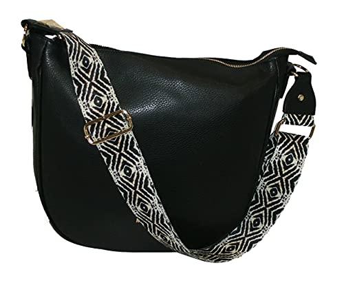 M*BRC Saco grande de piel by Max Brazaletes línea OBONA Negro Made in Italy Leather