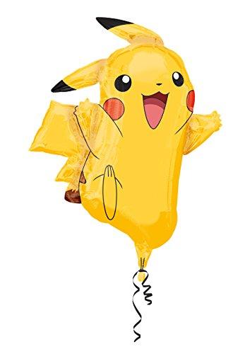 amscan 10118321 2946001 - Super Shape Folienballon Pikachu, Größe circa 62 x 78 cm, Heliumballon, Geburtstag, Dekoration