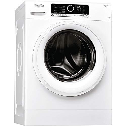 Whirlpool FSCR80410, Lavatrice a Carica Frontale a Libera Installazione, A+++, 8kg, 1400 GIRI/MIN, Bianco