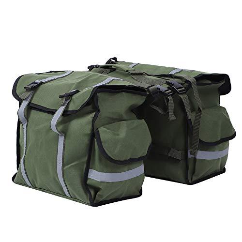 大容量サドルバッグ、防水ワックス自転車バッグ、自転車用