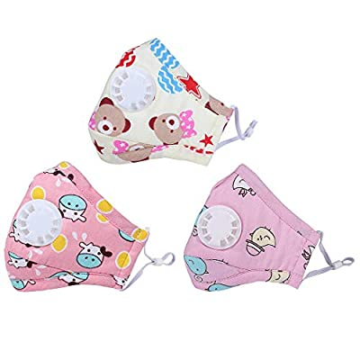 FansportMouth Mask Dustproof Cute Cartoon Mouth Cover Face Mouth Mask for Kids for Outdoor (for Girls)