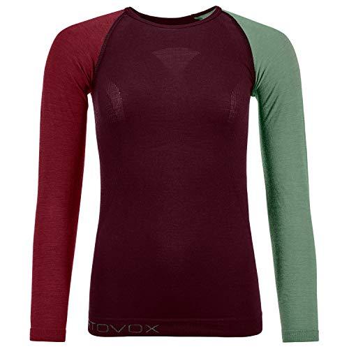ORTOVOX Womens 120 Comp Light Undershirt, Dark Wine, M