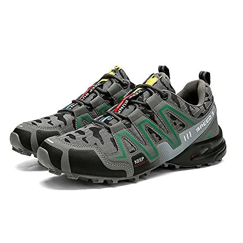 Fnho Calzado Deportivo al Aire Libre,Transpirables para Zapatos,Zapatos para Caminar al Aire Libre, Zapatos Bajos para Caminar para Hombres-Ash_46