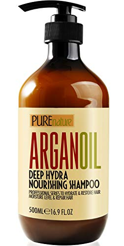 Moroccan Argan Oil Shampoo SLS Free Sulfate Free, Organic for Damaged, Dry, Curly or Frizzy Hair - Thickening for Fine / Thin Hair, Good for Color and Keratin Treated Hair