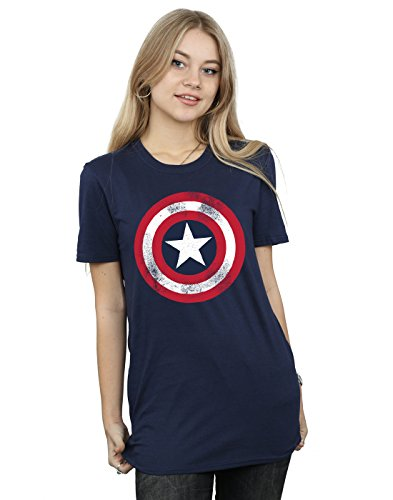 Licence Officielle Captain America Distressed Shield Femmes T-Shirt S-XXL tailles