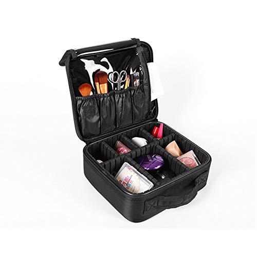 Kosmetiktasche Große Kapazität Kosmetische Aufbewahrungsbox Leicht und Langlebig Mit Kompartiment Oxford Tuch Beauty Nail Cosmetic Case 26,5 × 22 × 10 cm