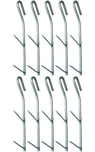 Behr Kit d'accessoires pour fumoir - Lot de 10 crochets doubles pour fumage de poisson