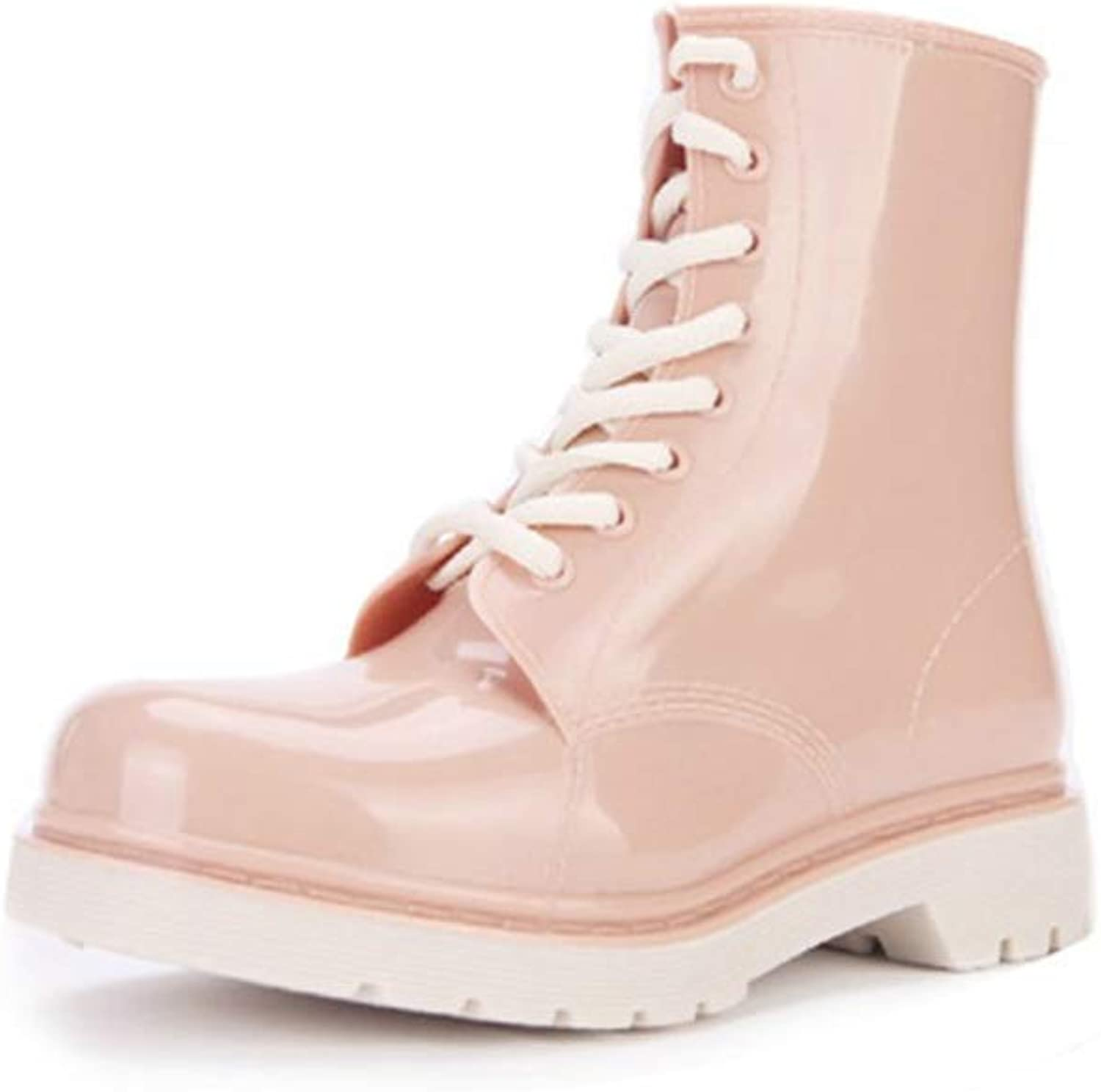 Fashion Rain Boots Non-Slip Boots Adult Water shoes Student Rubber shoes Martin The Lacing Design Rain Boots Women