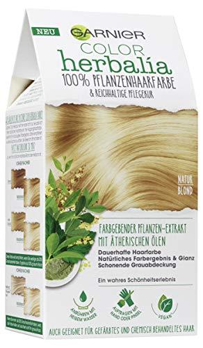 Garnier Color Herbalia Naturblond, Pflanzenhaarfarbe mit Henna und ätherischen Ölen, natürlich blond, vegan (1 Stück)