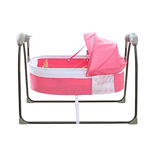 Silla de swing de bebé, mora de seguridad de inclinación ajustable con dos métodos de suministro de energía/silla de balancín de música portátil con para el niño recién nacido, gris WDH666