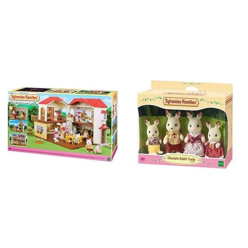 SYLVANIAN FAMILIES 5302 Casa con Luces + 4150 Familia Conejo Chocolate