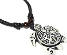exoticdream Turtle Necklace Yin Yang Coqui Taino Sun Cotton Cord