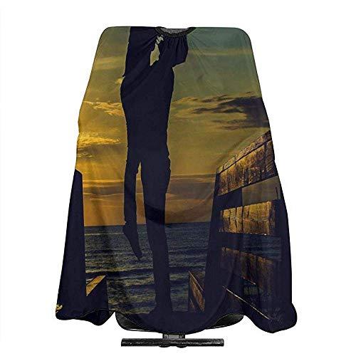 Kappersomhang van papier, voor paren, hoge schorten, van polyester, voor volwassenen