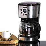 Geepas 1.5L Filter Coffee Machine| Boil-Dry Protection, Anti-Drip Function, Automatic Turn-Off Feature (Digital) ? 2 Year Warranty