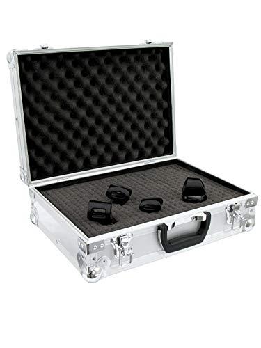 ROADINGER Universal-Koffer-Case FOAM, silber | Flightcase mit Schaumeinlage, 420 x 120 x 295 mm (Innenmaß)