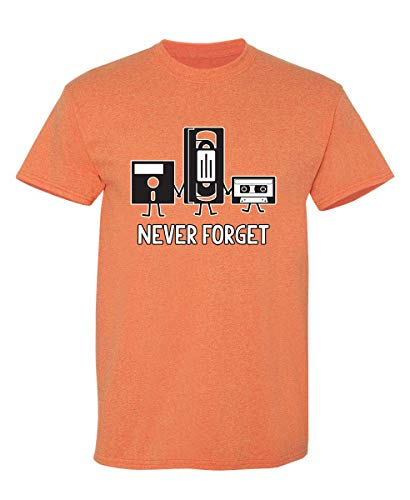 Never Forget Graphic Novelty Sarcastic Funny T Shirt L Sunset