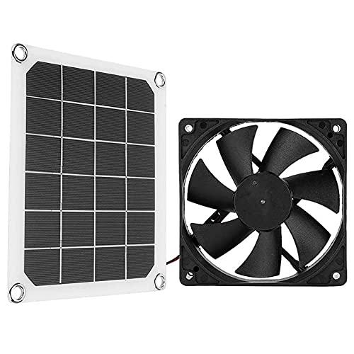 ZXZCHGN Ventilador de energía solar, IP65 Ventilador de escape solar impermeable, ventilador de escape portátil impermeable para RVS, ventilador de ático solar se enfría silenciosamente, ventila el es