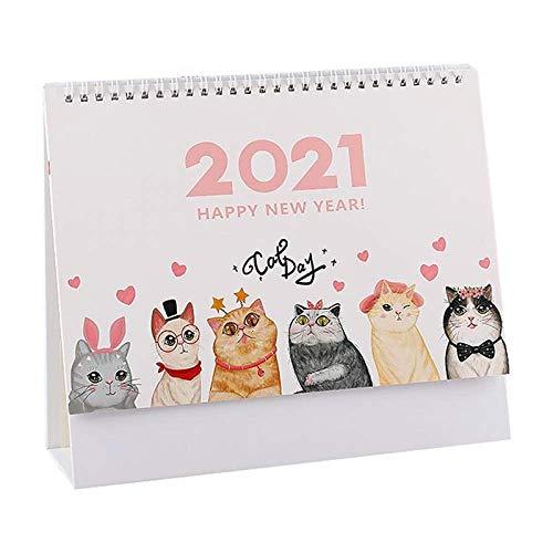 Calendario de escritorio 2021, calendario de planificación práctico, calendario de notas creativas