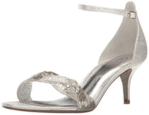 Adrianna Papell Women's Aerin Dress Sandal, Silver, 6 M US
