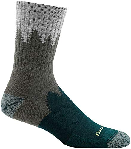 DARN TOUGH (Style 1974) Men's Number 2 Hike/Trek Sock - Green, Large