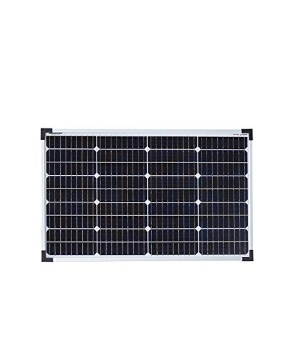 enjoy solar Panel solar monocristalino de 50 W, 12 V, 9BB, ideal para autocaravanas, cobertizos de jardín, barcos