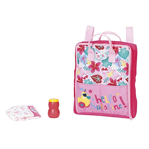 Baby Born Holiday Wickelrucksack Puppenzubehör 43 cm, Color Pink/Bunt (Zapf Creation AG 829233)