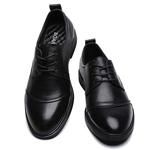 [SOARHOPE] 走れる ビジネスシューズ 革靴 メンズ 本革 軽量 ビジネス スニーカー 走れる 革靴 歩きやすい革靴 �K 3E