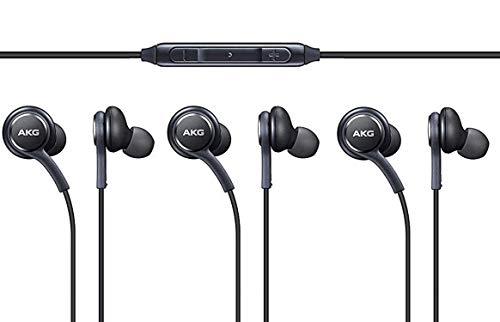 AKG Kopfhörer 3-er Set In-Ear Headset mit Anrufannahme-Taste und Lautstärke-Regler satte Bässe Stereo Sound EO-IG955 Bulk Schwarz