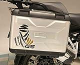 Kit 2 ADESIVI per VALIGIE MOTO LOGO DAKAR GS COMPATIBILE BMW GS R1250 EXCLUSIVE