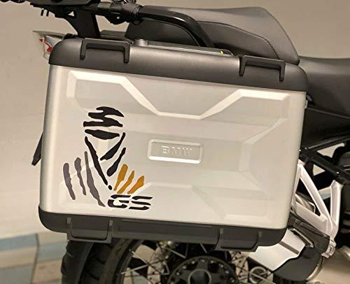Kit de 2 adhesivos para maletas de moto con logotipo Dakar GS compatible con BMW GS R1250 Exclusive