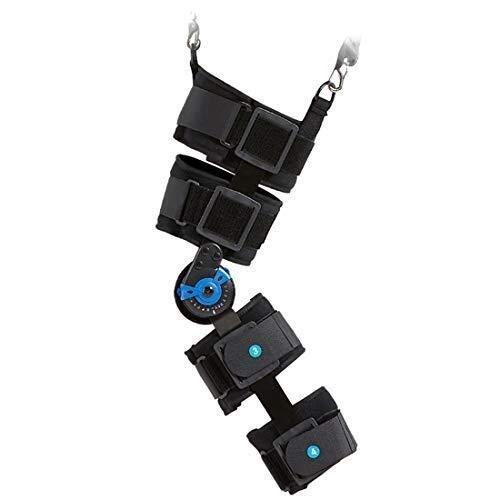 Pedales Estaticos Pata estabilizadora de rodilla Ortesis férula ajustable con bisagras Brace ROM de la rodilla, después de la operación de Lesiones de la rótula médico ortopédico inmovilizador