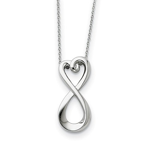 925 Sterling Silver Infinite Love 18 Inch Chain Necklace Pendant Charm Infinity Inspirational Fine Jewelry For Women Gifts For Her
