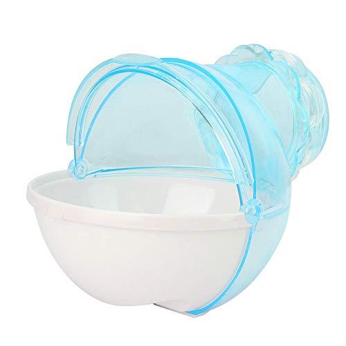 Nannday Langlebige kleine pelzige Tiere Helle Farbe Praktisch für die Beobachtung Hamster Badezimmer, beständige Haustier Badewanne mit Rohrleitung, Plastik Ratten für Hamster(Blue)