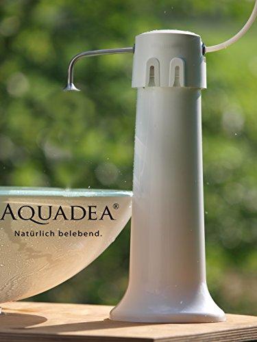 Aquaphor Übertisch Trinkwasser Filter Gerät mit Schnellwechsel - Patrone keimfrei mit K1-07B 2-Stufen Filterpatrone Carbonblock und 0,1 µm Hohlfaser-Membrane. Bequemer, einfacher schneller Patronenwechsel.
