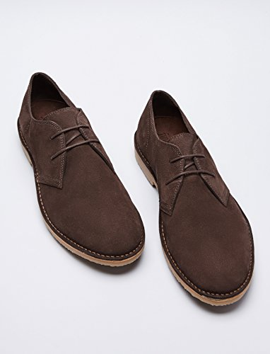 FIND Herren Derby Schuhe aus Wildleder, Braun (Chocolate) - 4